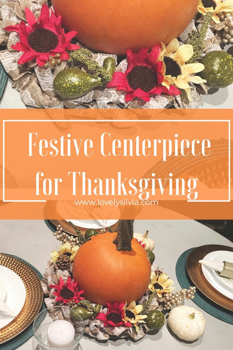 Lovelysilvia easy inexpensive thanksgiving centerpiece for Inexpensive thanksgiving centerpieces